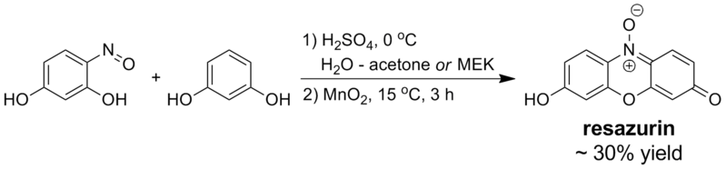 Resazurin synthesis