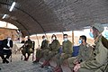 Reuven Rivlin lighting the sixth Hanukkah candle with IDF soldiers, December 2020 (GPOABG 0584).jpg