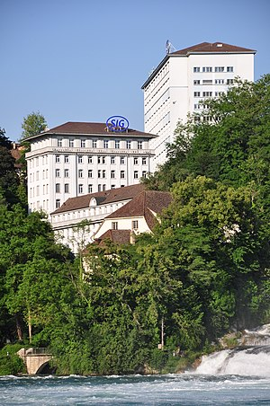 Sig Holding AG - SIG buildings in Neuhausen am Rheinfall (Switzerland)