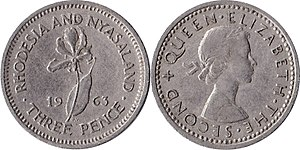 Rhodesia and Nyasaland pound - Image: Rhodesia and nyasaland d 03 1963