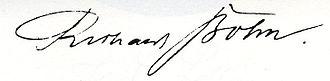 Richard Bohn - Richard Bohn signature.