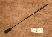 A type of whip known as a riding crop