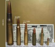 Rifle cartridge comparison w scale