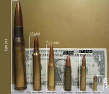 56mm nato shown alongside other cartridges