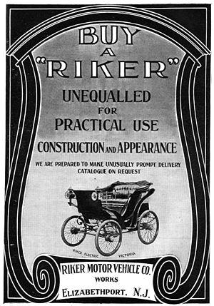 Riker Electric Vehicle Company Wikipedia
