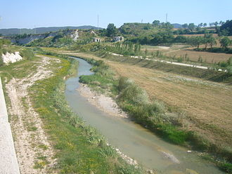 Anoia (river) - The Anoia River in Igualada