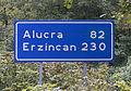 Road sign on Yağlıdere - Alucra Road.jpg