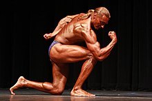 Robert-Cheeke vegan body building natural competition 2009.jpg
