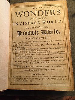 Robert Calef title page More Wonders of the Invisible World.jpg