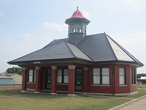 International–Great Northern Railroad - The restored depot of the former International-Great Northern Railroad in Rockdale, Texas