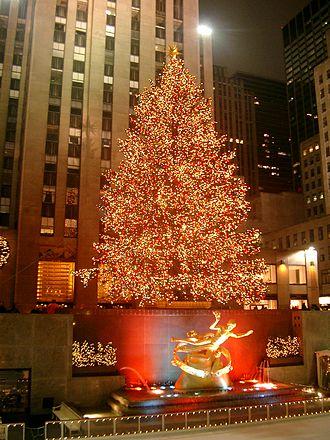 Christmas lights - The Rockefeller Center Christmas Tree in New York City
