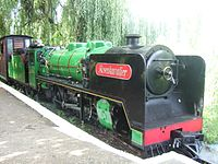 Rosenkavalier stands at the Waveney Valley Railway stop at Bressingham.jpg