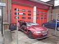 Rover 200 being used for fire training at Wetherby Fire Station (30th August 2015) 002.JPG