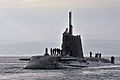 Royal Navy Submarine HMS Astute Returns to HMNB Clyde MOD 45153733.jpg