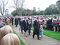 Royals on Church Walk, Sandringham on Christmas Day 2006 - geograph.org.uk - 2002893.jpg