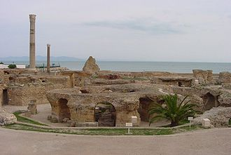 Roman Carthage - Antonine baths ruins, from the Roman period