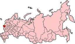 Brjansk oblasts placering i Rusland