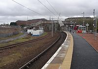 South eastward view towards the WCML, 2008