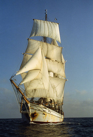 First Fleet Re-enactment Voyage - Søren Larsen, flagship of the voyage