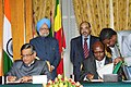 S.M. Krishna and the Minister for Finance & Economic Development, Ethiopia, Mr. Sufian Ahmed signing the agreement for the Avoidance of Double Taxation and the Prevention of Fiscal Evasion with respect to Taxes on Income.jpg