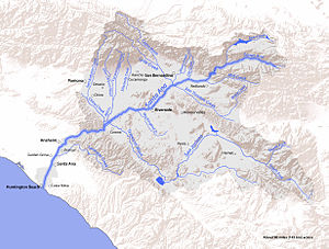 Bear Creek (Santa Ana River tributary) - Image: SAR Map