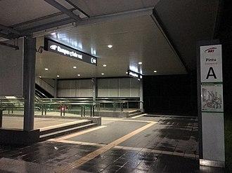 Kampung Selamat MRT station - Image: SBK Line Kampung Selamat Entrance A 1
