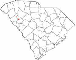 Location of Greenwood, South Carolina