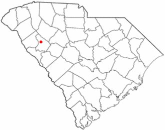 Greenwood, South Carolina - Image: SC Map doton Greenwood