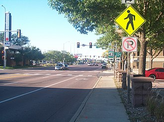 South Dakota Highway 115 - SD 115 northbound intersects SD 42 eastbound in Sioux Falls