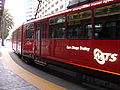 SD Trolley Blue line entering America Plaza station 2.JPG