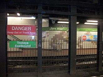 36th Street station (SEPTA) - Image: SEPTA 36th Samson Commons Platforms