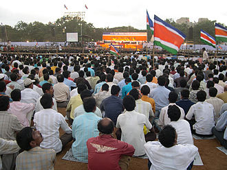 Maharashtra Navnirman Sena - Rally at Shivaji Park, Mumbai in which Raj spoke out against North Indians.