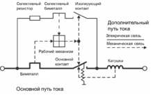 Автоматический выключатель схема