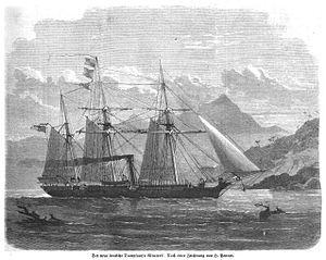 SMS Albatross (1871) - Image: SMS Albatros (IZ 1872 109 n H Penner)