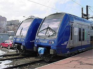 Gare de Saint-Étienne-Châteaucreux - Modern rolling stock at Saint-Etienne.