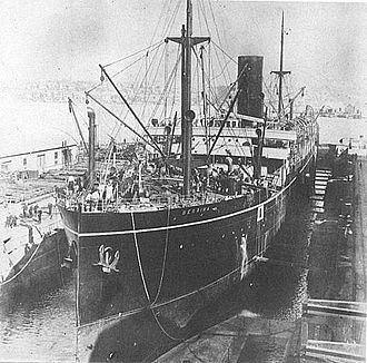 Caird & Company - Image: SS Berrima in build at Caird and Co in 1913
