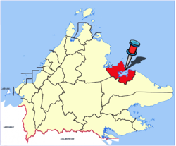 Lokasi bagi Sandakan District