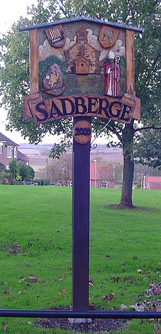 Sadberge - Image: Sadberge village sign