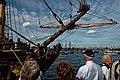 Sail Amsterdam - De Ruyterkade - View North on Frigate Shtandart 1703 - Replica 1999 the first ship of Czar Peter I's Baltic Fleet II.jpg