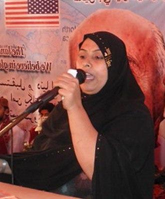 Muzafar Bhutto - Saima Bhutto addressing participants during G. M. Syed's 108 birthday