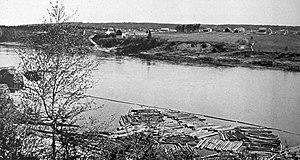 Saint-Léonard, New Brunswick - Image: Saint Léonard, New Brunswick (1918)