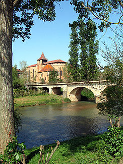 Der Fluss in Saint-Sever-de-Rustan