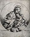 Saint Mary (the Blessed Virgin) with the Christ Child. Line Wellcome V0033773.jpg
