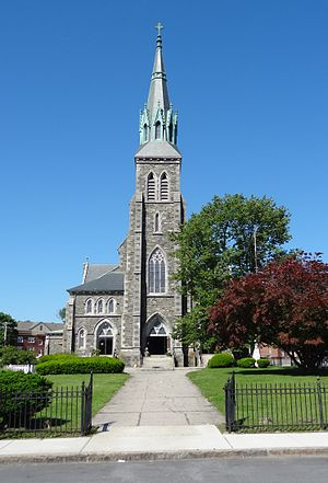 St. Patrick's Church (Lowell, Massachusetts) - St. Patrick's, front view (2012)