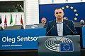 Sakharov Prize 2018 laureate Oleg Sentsov receives his award (49126867808).jpg