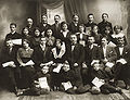 Saliamonas Banaitis with his printing-house employees.jpg