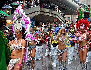 Samba school - Samba school Império do Papagaio, from Helsinki, Finland, during the 2004 Carnival