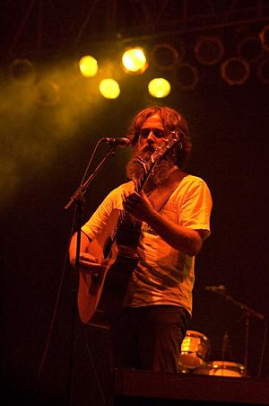 Sam Beam (Iron & Wine) at a 2006 concert at Br...