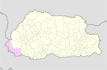 Location of Samtse Gewog