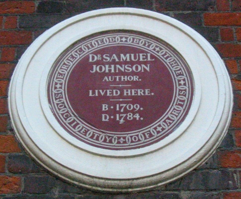 Samuel Johnson plaque London